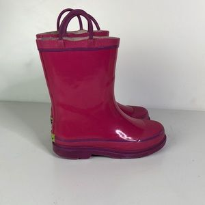 Adorable pink and purple western chief rain boots